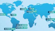 2014/2015 Formula E calendar announced, will have ten rounds
