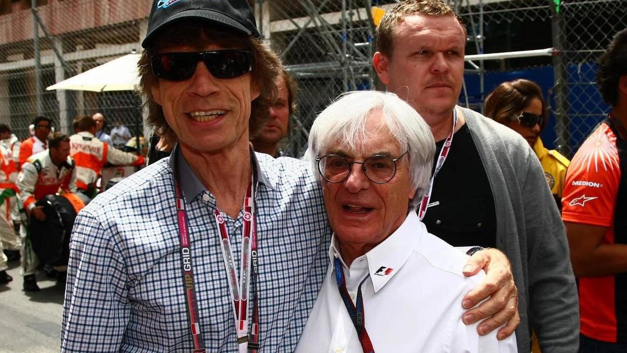 Mick Jagger with Bernie Ecclestone (GBR), Monaco Grand Prix, 16.05.2010 Monaco, Monte Carlo