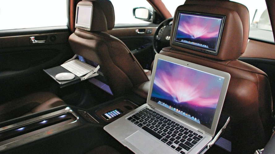 Hyundai & RIDES Turn Genesis Sedan Into Mobile Office for SEMA