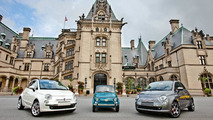 An original 1966 Fiat 500 together with the European versions of the new Fiat 500, at the Biltmore Estate. 12.07.2010
