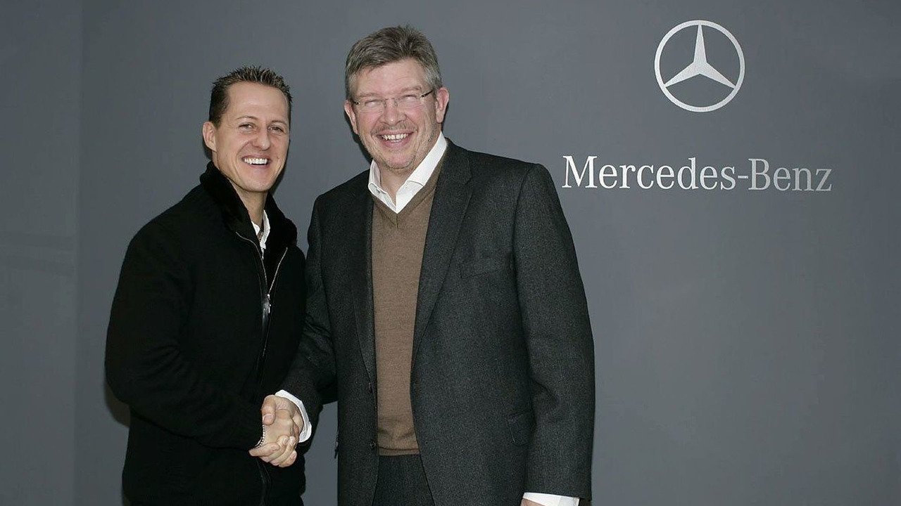 Michael Schumacher, Ross Brawn, Mercedes GP, Brackley, 23.12.2009