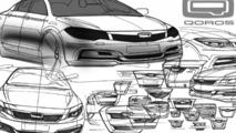 Qoros GQ3 design sketches