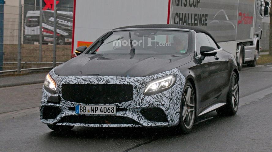 2018 Mercedes-AMG S63 Cabrio spy photos