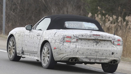 Abarth 124 Spider spied flaunting quad exhaust tips