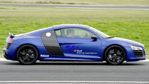 Driver safety training for Munich's soccer stars in the Audi R8