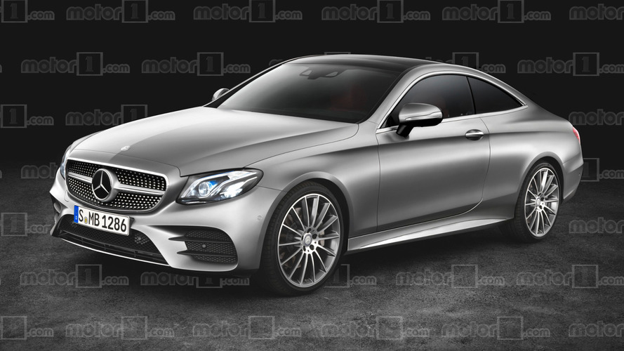 Mercedes E-Class coupe rendering
