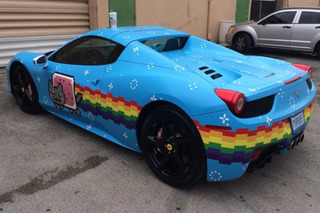 These Audis Are Carrying on Deadmau5's Vibrant Nyan Cat Legacy