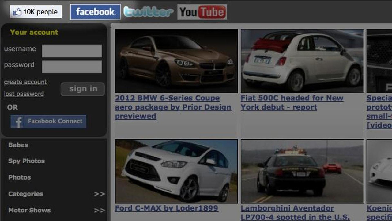 WorldCarFans.com Facebook 10,000th friend screenshot, 692, 22.03.2011