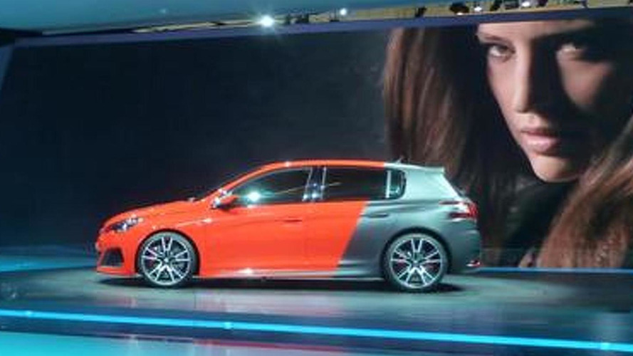 Peugeot 308 R concept uncovered in Frankfurt