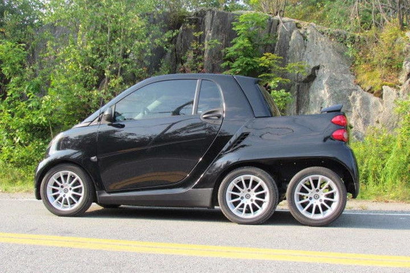 Someone Built a 6-Wheeled Smart Fortwo Truck and It's Awesome