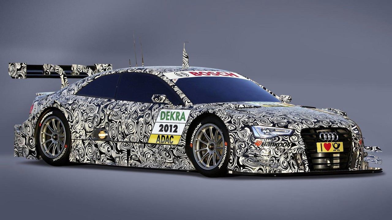 Homologated Audi A5 DTM race car teaser 02.03.2012