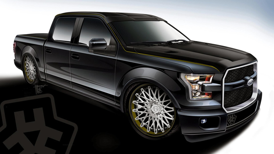 Ford shows off customized F-150s bound for SEMA