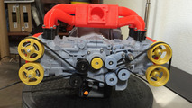 Subaru EJ20 model made in a 3D printer is almost fully functional