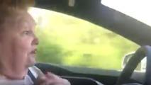 Tesla Model S Autopilot freaks out grandma