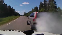 Driver attempts real-life Spy Hunter moves during high-speed chase