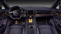 Porsche Panamera Stingray GTR with purple interior and gold accents revealed by TopCar