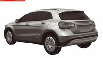 Entry-level Mercedes-Benz GLA 180 CDI surfaces the web in leaked patent photos