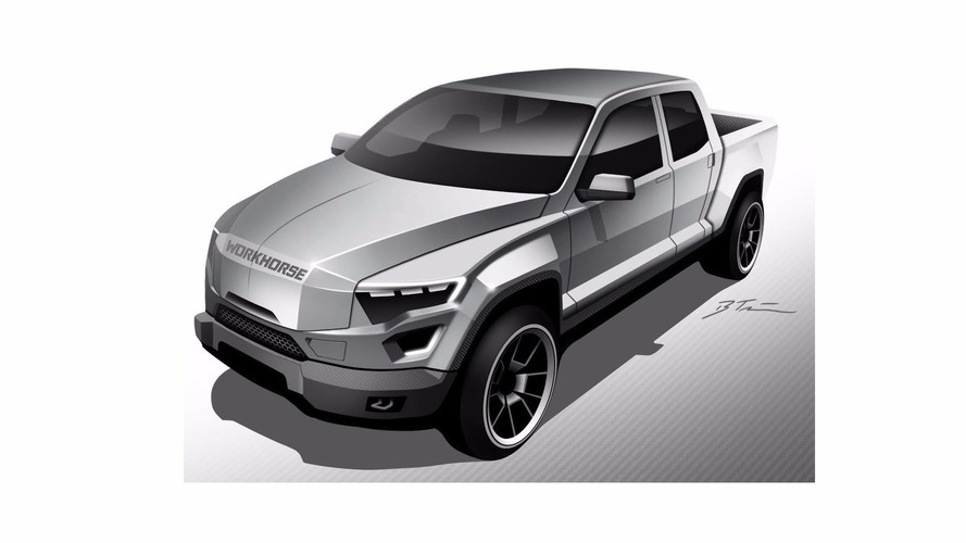 EV pickup concept looks like Judge Dredd's work truck