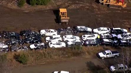 120 BMWs wrecked in train crash