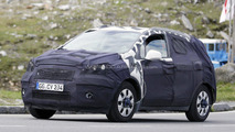 2012 Opel 'baby Antara' compact SUV spied - interior and engine shots too