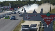 Truck race ends with contact-filled photo finish and fight