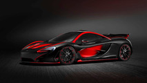 Latest McLaren P1 by MSO looks devilish with black and red theme