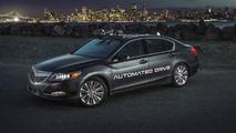 New Acura RLX autonomous prototype gets smaller sensors