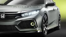 Honda Civic Hatchback concept leaked photo