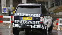 Range Rover long wheelbase prototype spied testing with quad pipes, could be SVR model