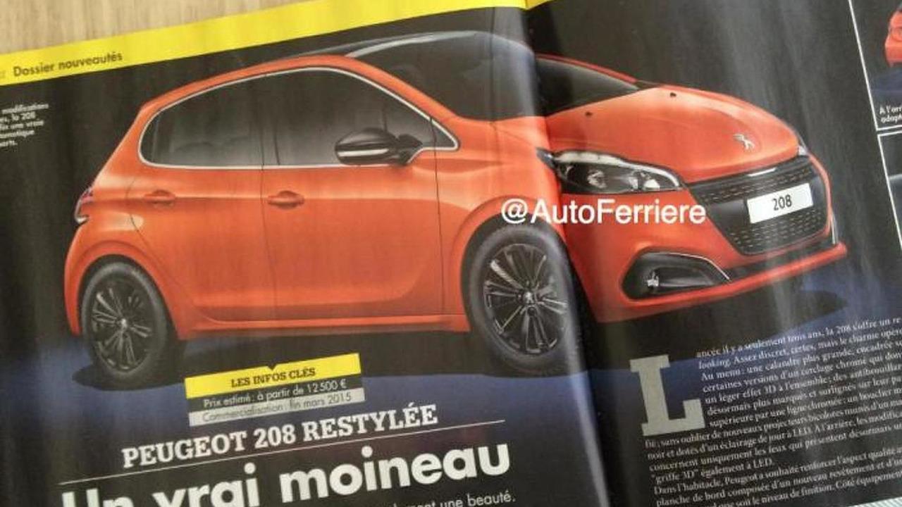 Peugeot 208 facelift leaked image (not confirmed)