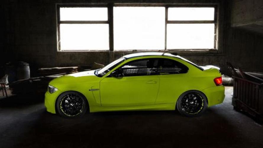 SchwabenFolia wraps BMW 1-Series M Coupe in Irie Green