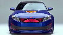 Superman-themed Kia Optima Hybrid 07.2.2013