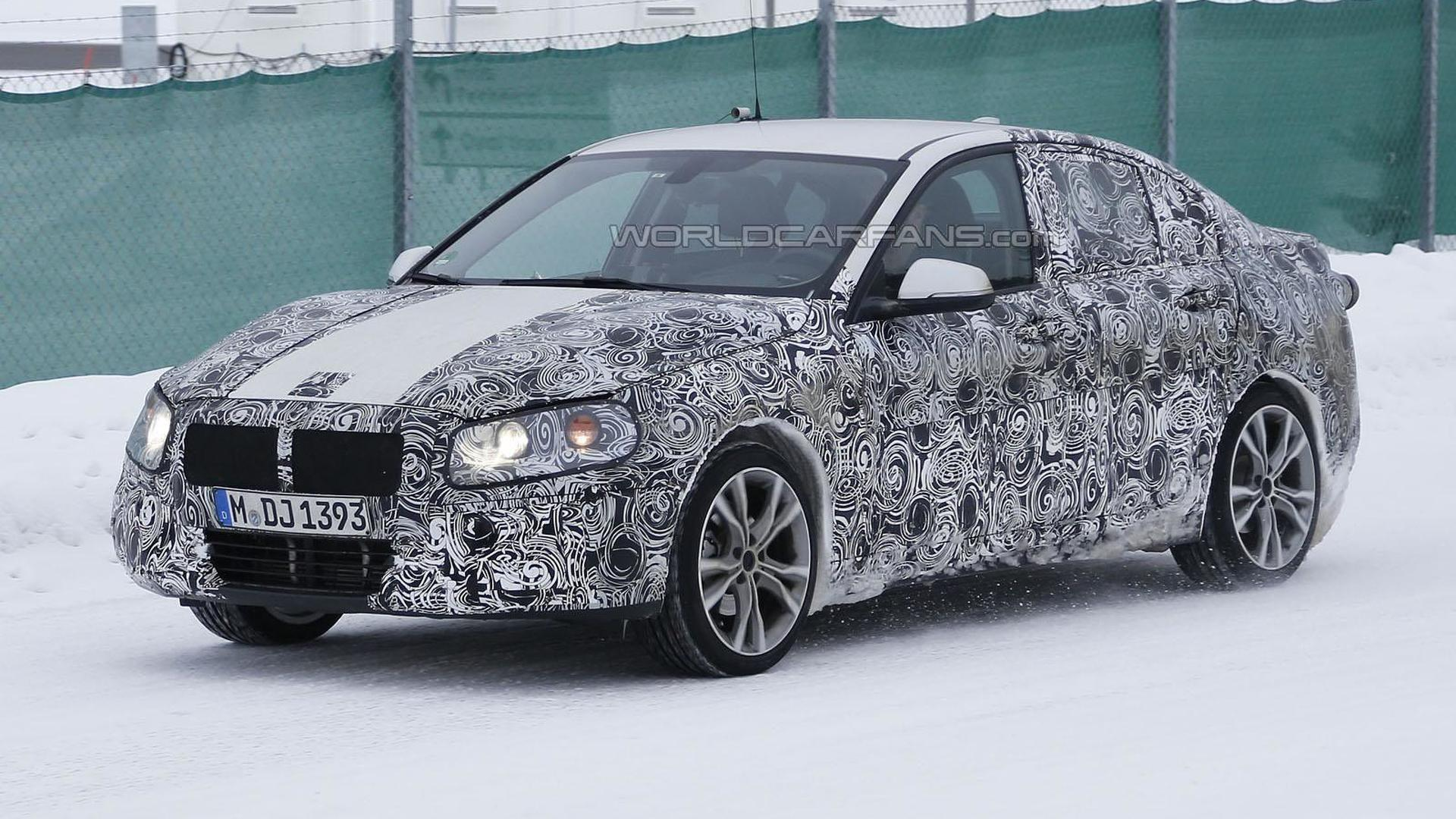 2016 BMW 1-Series sedan spied