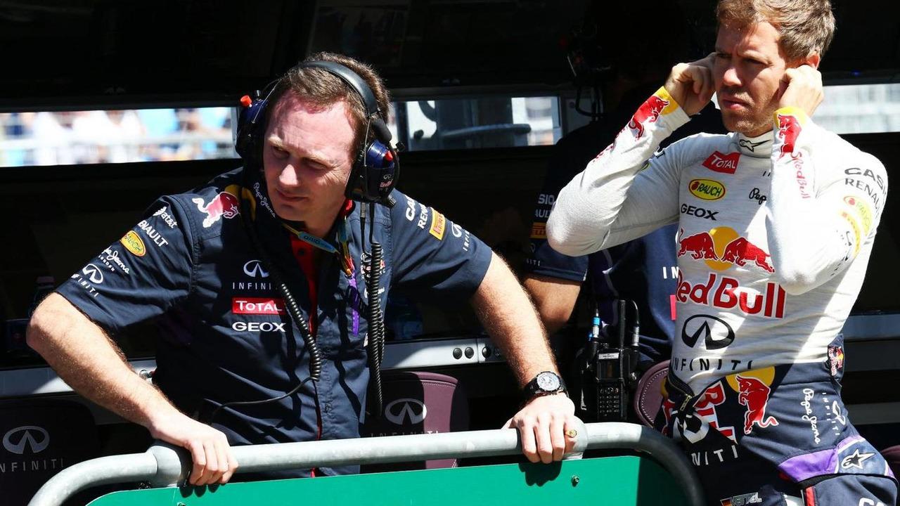 Christian Horner (GBR) with Sebastian Vettel (GER), 14.03.2014, Australian Grand Prix, Albert Park, Melbourne / XPB
