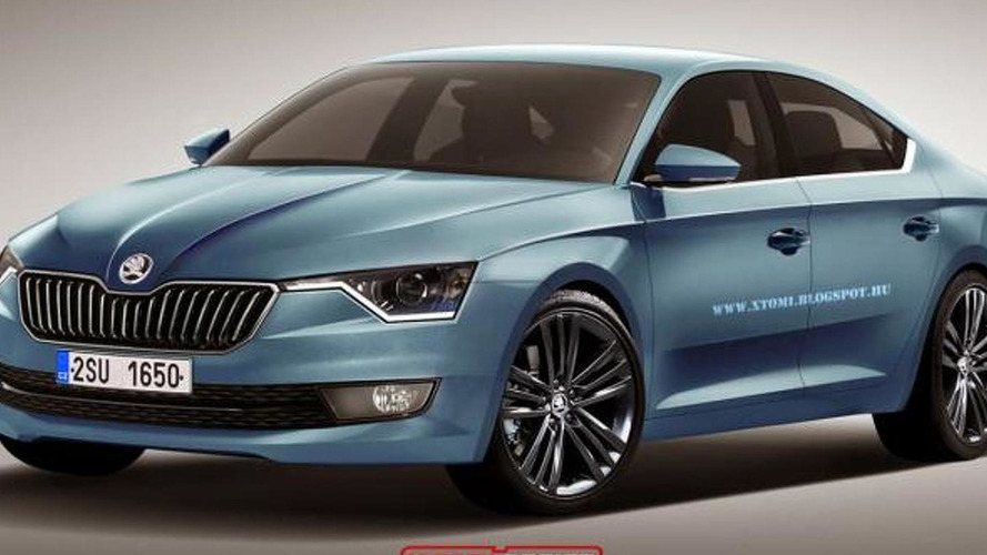 Future Skoda four-door coupe rendered by X-Tomi