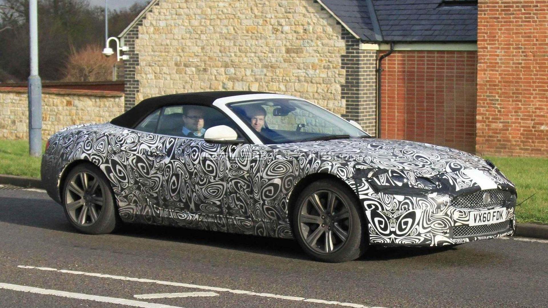 2012 jaguar xk cabrio facelift spied. Black Bedroom Furniture Sets. Home Design Ideas