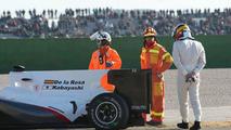 Pedro de la Rosa (ESP), BMW Sauber C29, stops on circuit, 03.02.2010, Valencia, Spain