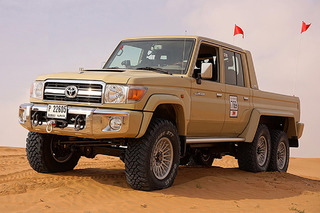 This 6x6 Toyota Land Cruiser is a Dune-Crushing Monster