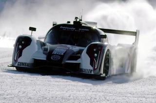 Pro Skier Jon Olssen Takes Track-Ready Rebellion Supercar to Ski Slopes! [video]