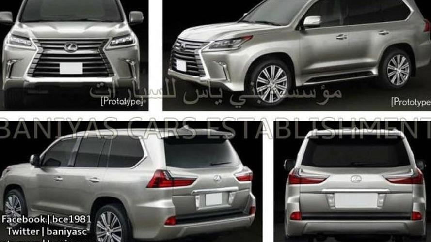 New Lexus LX facelift images leaked