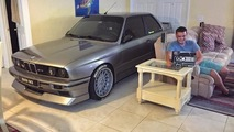 BMW enthusiast parks M3 inside living room during Hurricane Matthew