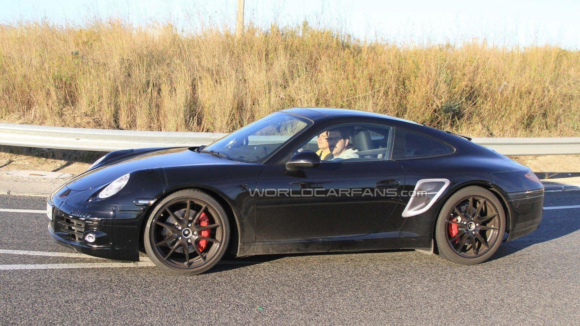 2012 Porsche 911 spied close up