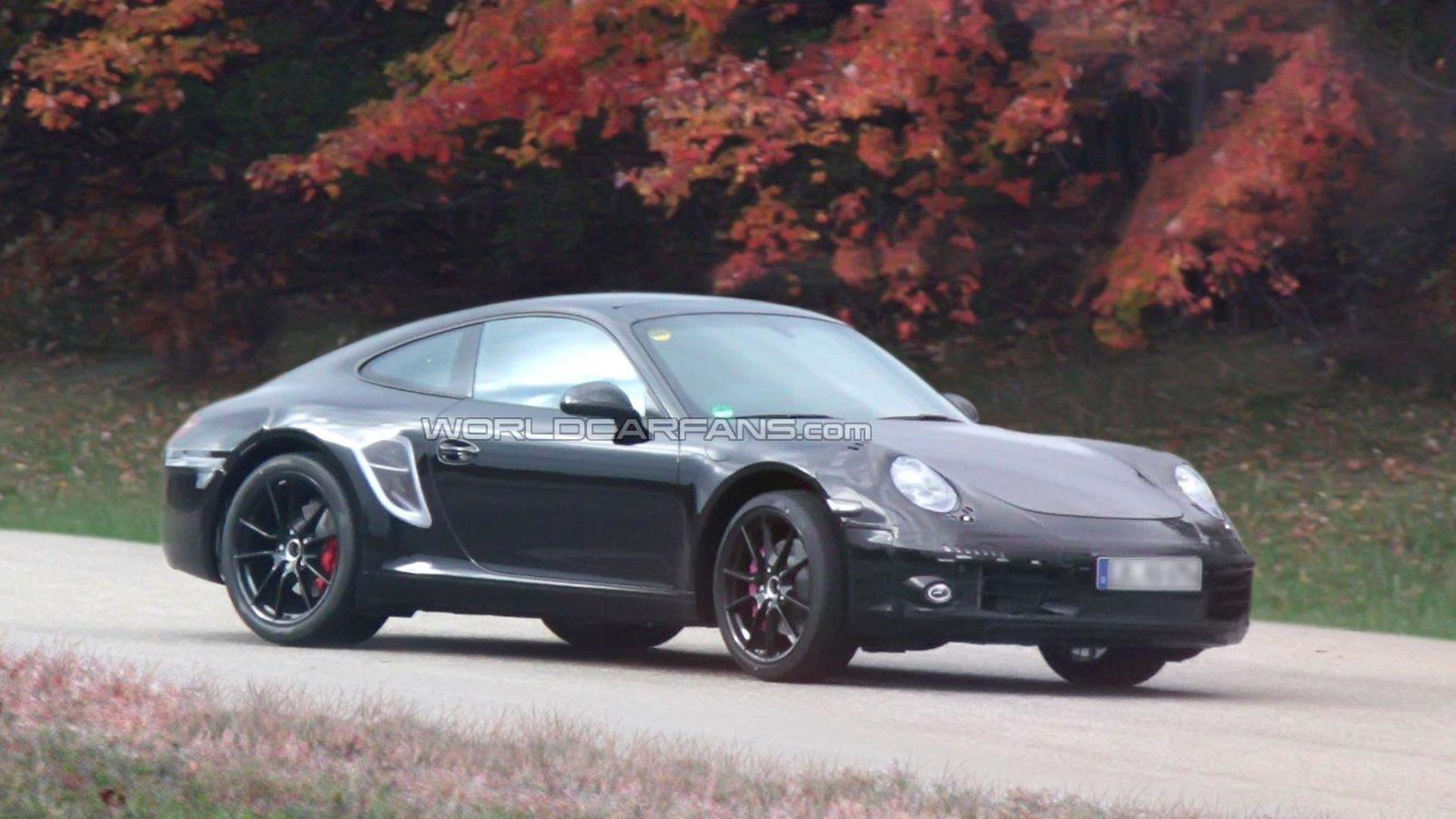 2012 Porsche 911 spied with less camo