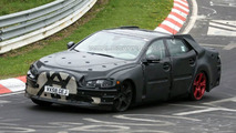 2010 Jaguar XJ prototype spy photo at Nurburgring