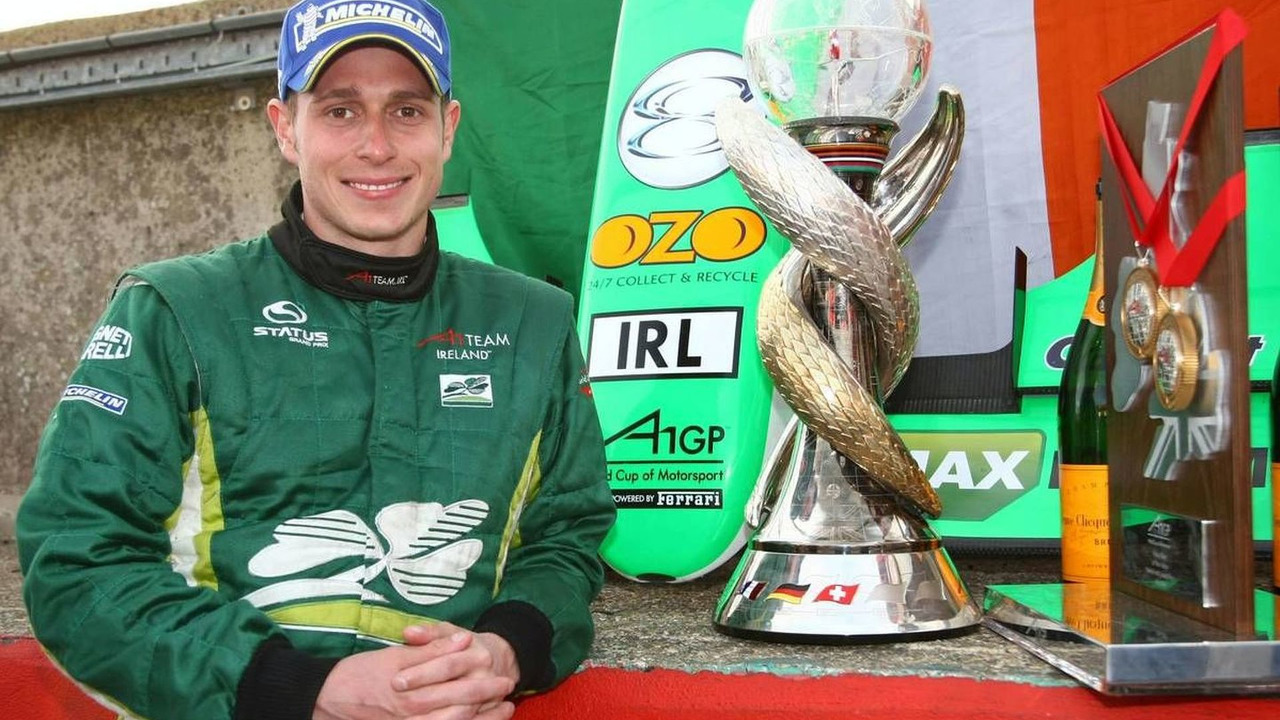 Adam Carroll (IRL), driver of A1 Team Ireland - A1GP World Cup of Motorsport 2008/09, Brands Hatch, Sunday Race 2, 03.05.2009 Fawkham, England