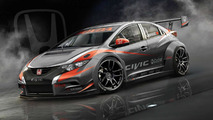 Honda previews 2014 Civic hatchback WTCC racer