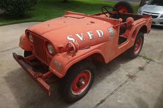 This 1953 Willys Jeep 'Fire Truck' Has Less Than 4,000 Original Miles