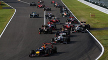 Japanese Grand Prix start, Suzuka Circuit 07.10.2012