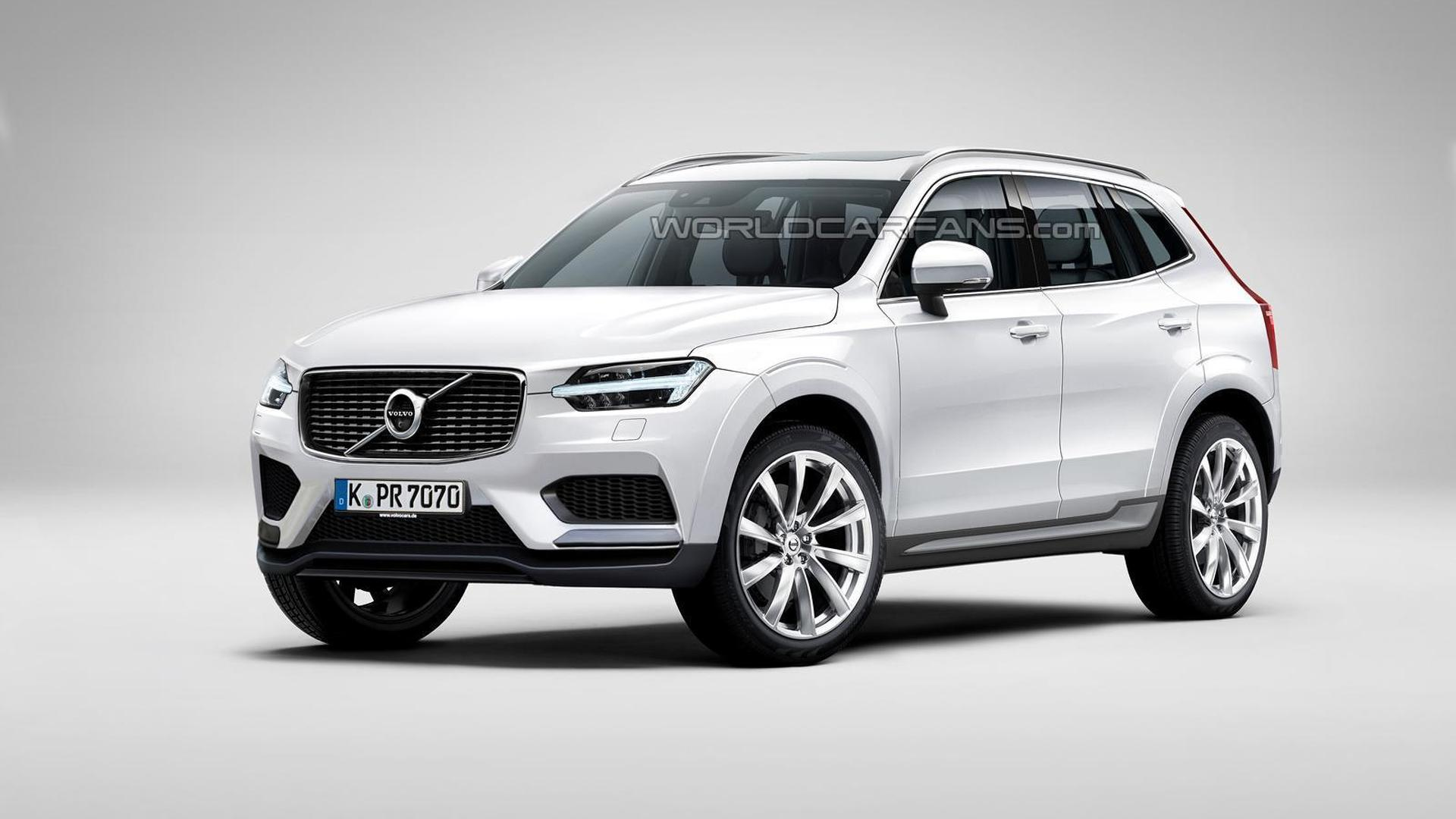 volvo xc60 render shows what to expect from the upcoming second generation. Black Bedroom Furniture Sets. Home Design Ideas