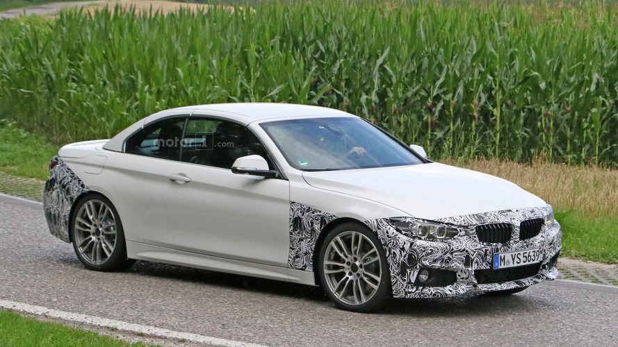 BMW 4-Series Convertible facelift seen with M Sport Package